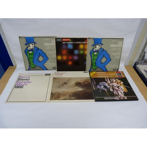 25 - Classical LPs to include G&S The Sorcerer, 2 x stereo sampler LPs and 2 x box sets including Dor...