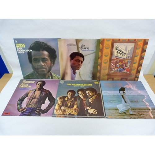 26 - 6 x LPs to include Chuck Berry, Syreeta, Joe Simon, Blackbyrds and The Main Ingredient. All UK press...