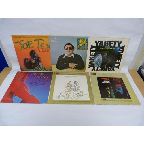29 - 6 x LPs to include 2 x Quadraphonic LPs by Ramsey Lewis and Bloomfield Kooper Stills. Also Boots Ran...