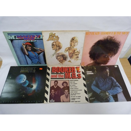 31 - 6 x LPs by Booker T & The MG.'s, to include Memphis Sound, Get Ready and Evergreen....
