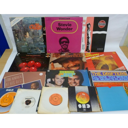 36 - Collection of LPs and singles to include Womack & Womack, King Curtis, Santana and singles by Da...