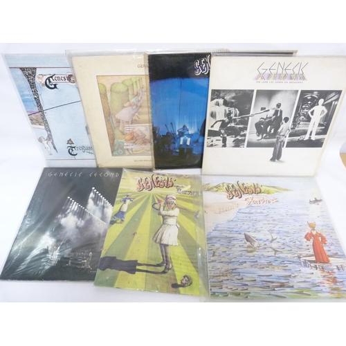 39 - 7 x Genesis LPs including original pressings of Lamb Lies Down, Genesis Live and Selling England By ...