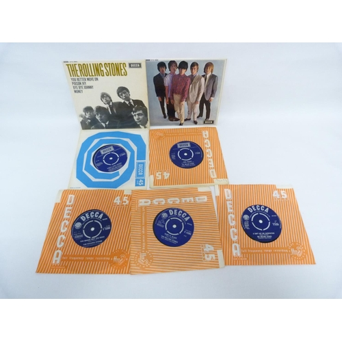 47 - 7 x Rolling Stones singles from the 1960s including 2 e.ps to include Five By Five, Satisfaction, Yo...
