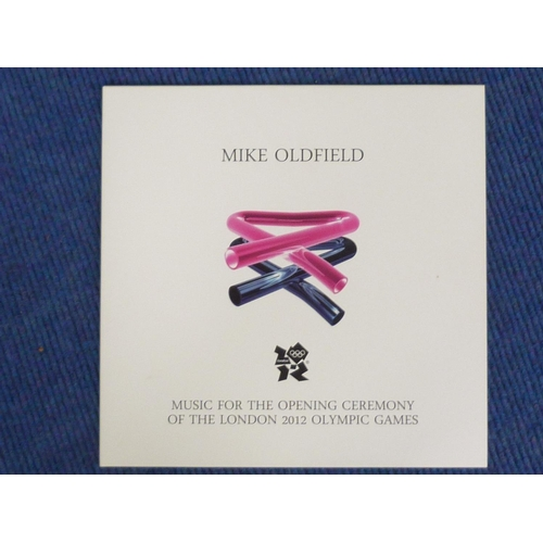 5 - Mike Oldfield LP, London 2012 Olympic Games. Limited edition 482 of 500. Pink and blue vinyl....