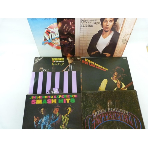 52 - Collection of UK rock records etc. including Jimi Hendrix, AC/DC, Kiss and The Jam....