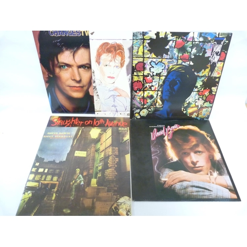 54 - 5 x David Bowie LPs and a Mick Ronson LP, all UK originals. To include Ziggy Stardust (with inner), ...