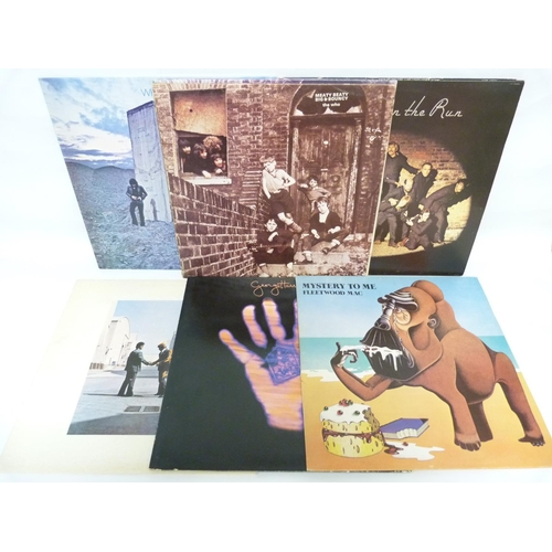 56 - Collection of rock LPs to include Pink Floyd LP Wish You Were Here (Matrix: A-6 B-13 with inner), Th...
