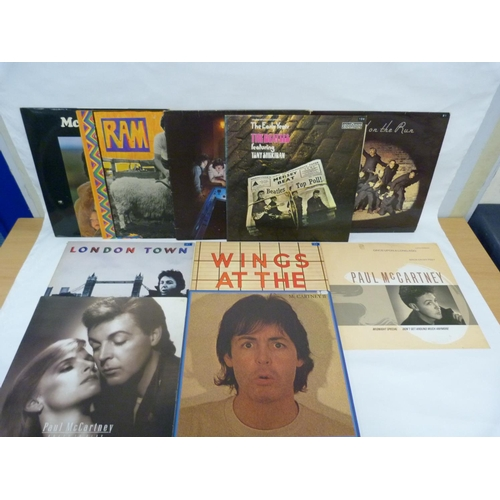 6 - Collection of Beatles related LPs to include BandOn The Run, Ram, Magical Mystery Tour double origi...