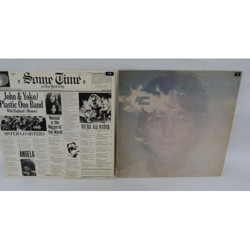8 - 2 x John Lennon LPs, Imagine (with poster, Malaysian pressing) and Some Time in New York City (Canad...