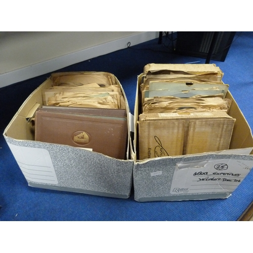 20 - Large collection of 78s to include Amelita Galli-Curci, Nellie Melba, and also Erika Morini....
