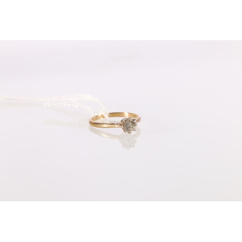16 - Diamond solitaire ring, the brilliant size approximately .5ct, 9ct gold. Size 'M 1/2'.<br />...