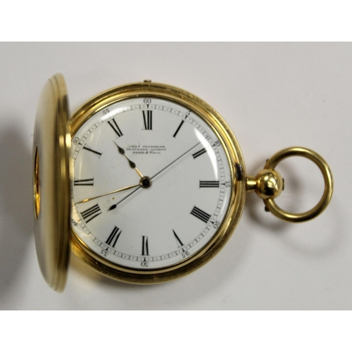 60 - Chronograph lever watch by Charles Frodsham London no. 02479 ADFMSZ, fusee with overcoil spring, sp...