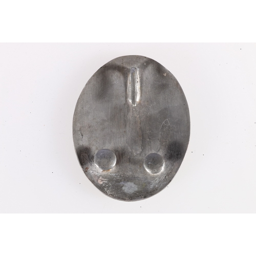 409 - Scottish oval silver on copper shoulder belt plate of the Peebleshire Yeomanry Cavalry with incised ...