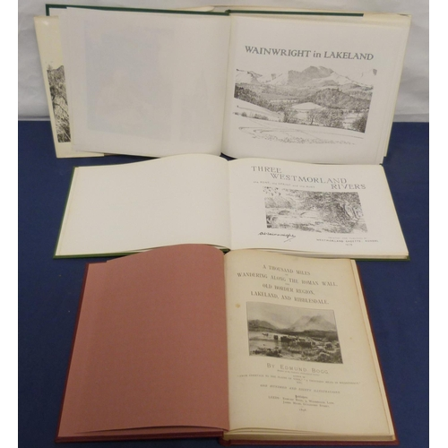 4 - <strong>WAINWRIGHT A.</strong>Three Westmorland Rivers. Illus. Oblong, one or two leaves poorly tr...