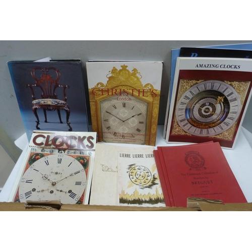 52 - <strong>Clocks & Watches.</strong> A carton of various softback publications, ephemera, et...