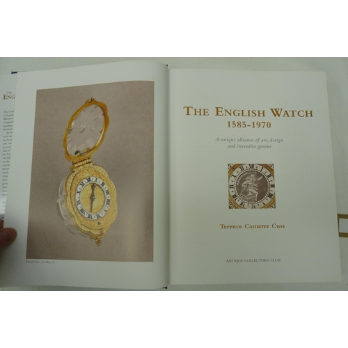 54 - <strong>CAMERER CUSS T. </strong>The English Watch. Illus. Quarto. Orig. blue cloth in d.w. 20...