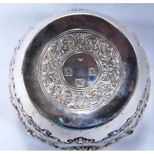25A - Silver sugar bowl w<span style=
