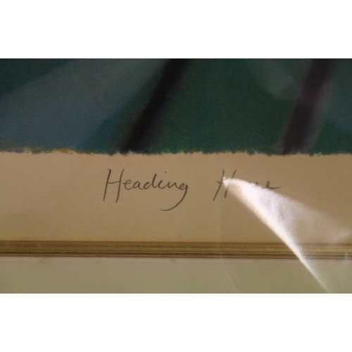 376 - ADAM BARSBY *ARR*Heading HomePrint, limited edition 83/95, pencil signed, 117cm x 50cm&n...