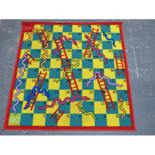 12 - Modern Snakes and Ladders rug....