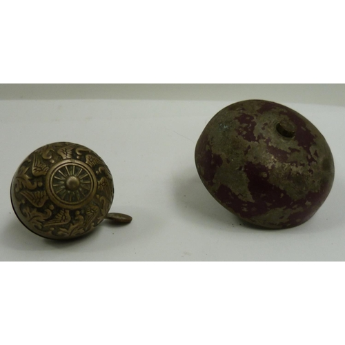 13 - Two antique bicycle bells....