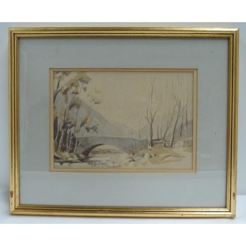 18 - R Martin Tomlinson.<br />Bridge near Hartsop.<br />Watercolor....