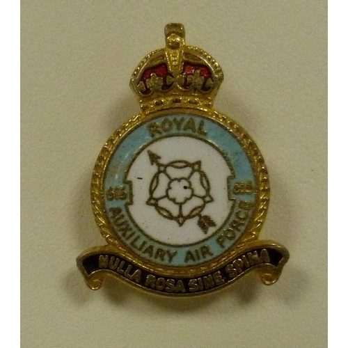 26 - Small box of RAF lapel badges....