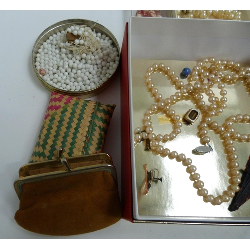 27 - Box of miscellaneous beads, faux pearls etc....