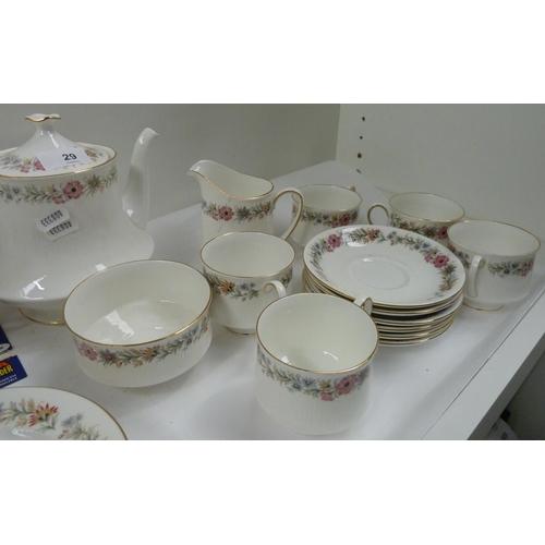 29 - Paragon 'Belinda' floral tea set....
