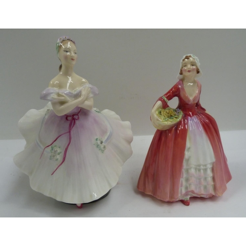 34 - Two Royal Doulton figures to include 'Janet' (NN1537) and 'The Ballerina' (HN2116)....