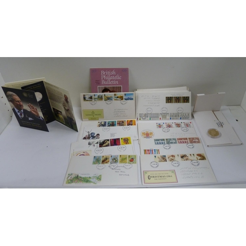 40 - Collection of First Day Covers and two commemorative coins....