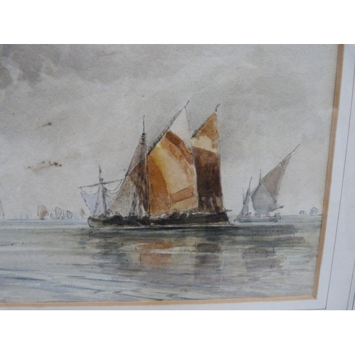 41 - 19th century<br />Ships in a harbour.<br />Watercolour....