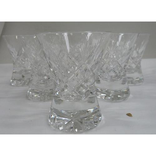 43 - Twelve Keswick cut Cumbria Crystal port glasses....