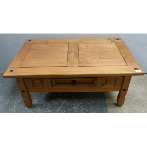 44 - Pine coffee table with drawer....