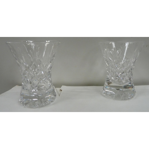 46 - Eight fluted Cumbria Crystal port glasses....
