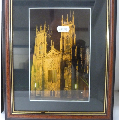 51 - Three modern prints to include York Minster....