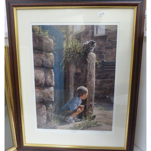 52 - Two Paul Monteagle signed artist proof prints also snowy landscape picture....