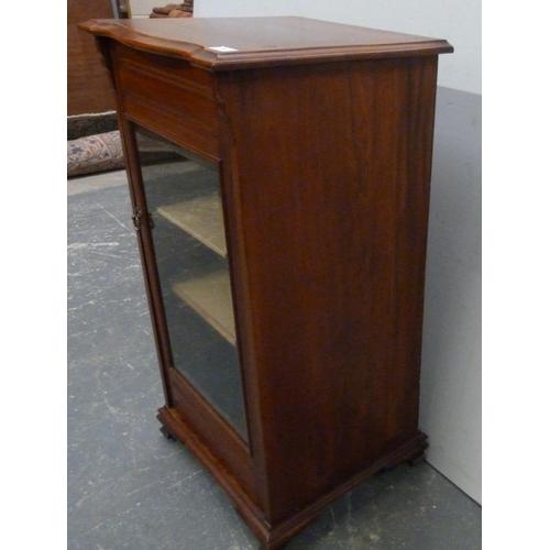53 - Mahogany glazed front cabinet....