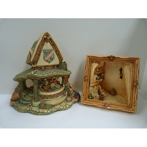 60 - Two large PenDelfin pieces to include curio shop and balcony scene....