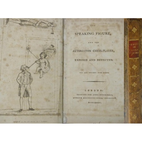 130 - <strong>TRACTS ON CHESS, 1784-1821 (Principally on the Automaton Chess Player). </strong>A single v...