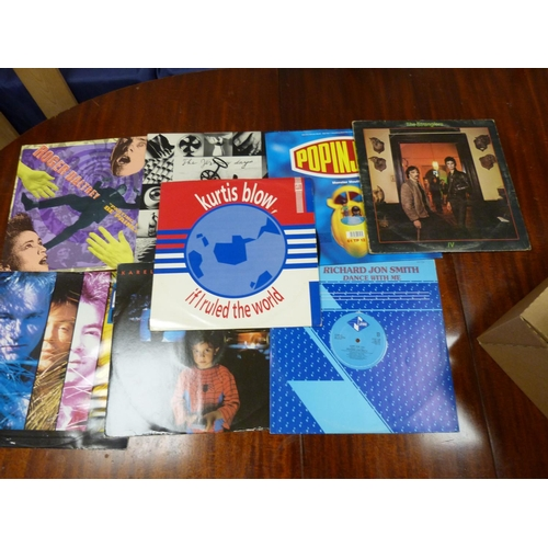 2 - Large box of LPs to include Roger Daultry, Cutting Crew, Kurtis Blow etc.