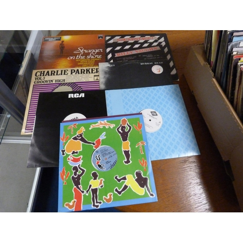 22 - Large box of LPs and 12