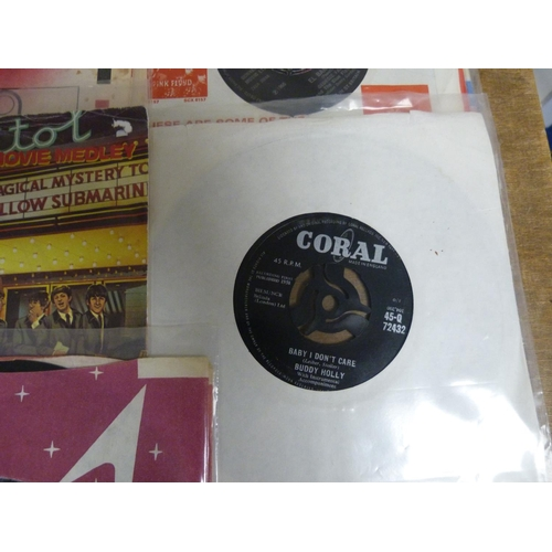 26 - Large box of 45s to include The Beatles, Buddy Holly, The Monkees etc.