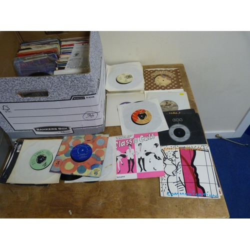 27 - Large box of single records to include the Isley Brothers, Siouxsie And The Banshees, etc.