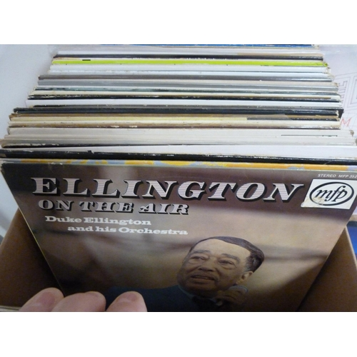 28 - Large box of LPs, mainly Jazz.