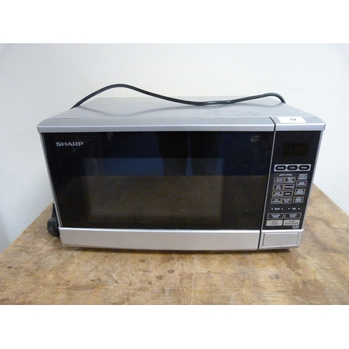 39 - Sharp microwave oven.