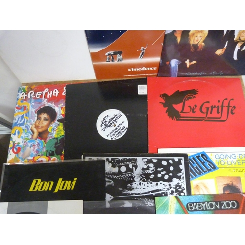 45 - Large box of LPs to include The Bangles, Fleetwood Mac, Bon Jovi etc.