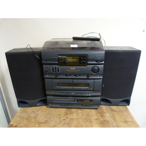 47 - Bush hi-fi system and speakers.