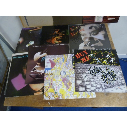 48 - Large box of LPs to include Bryan Ferry, The Faces, Emerson Lake and Palmer etc.