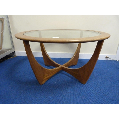 53 - 1960's glass top G Plan coffee table.