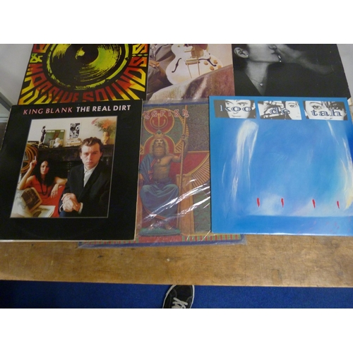 55 - Large box of LPs to include John Lennon, Kiss, Steve Miller Band, Madness etc.